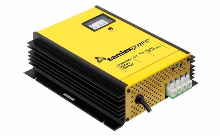 24V 15AMP BATTERY CHARGER W/DIP SWITCH & LUGS