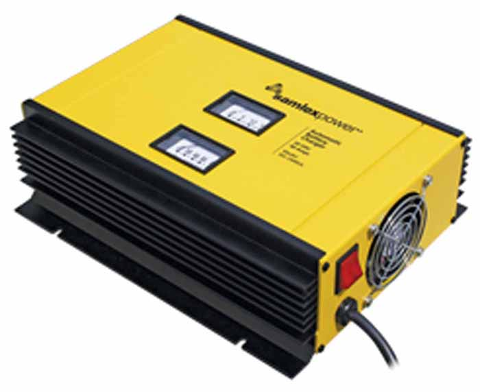 24VDC 40 AMP 2-STAGE W/VOLT & AMP METER UL APPROVE