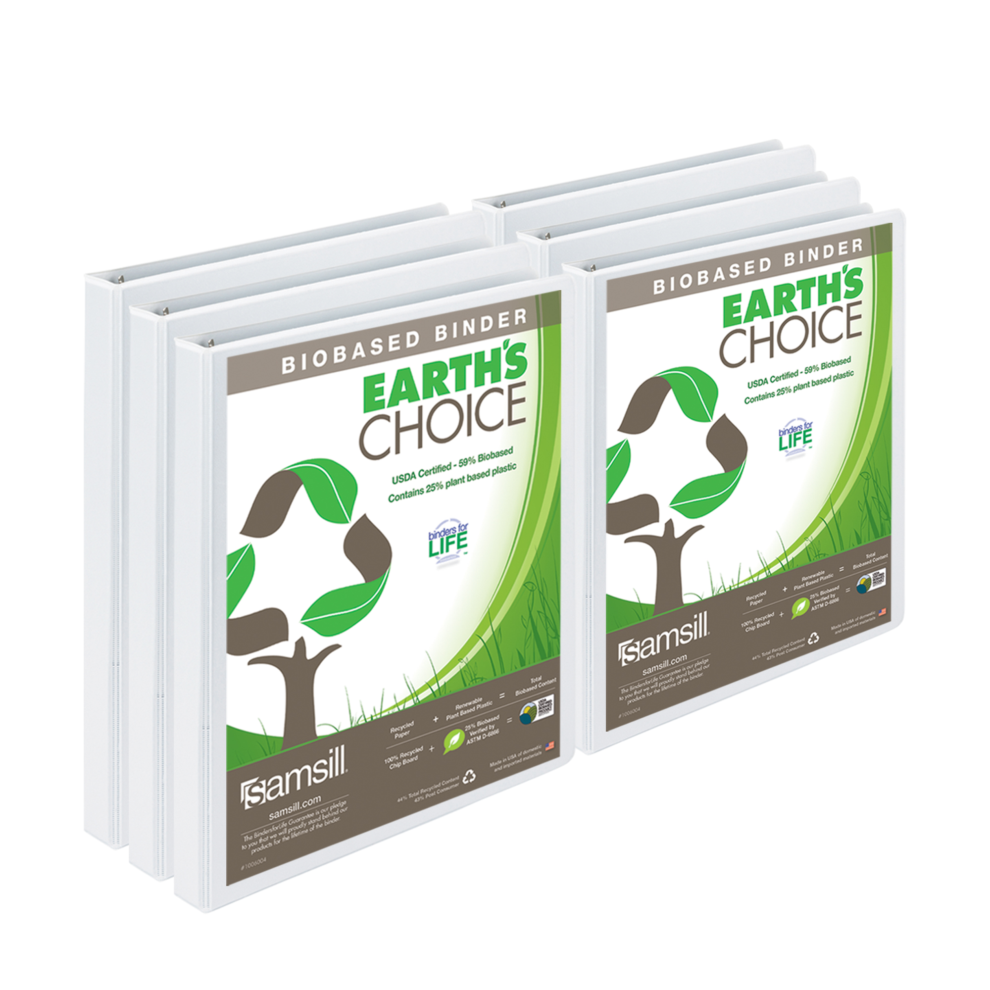 "EarthsChoice View Binder  .5"" 6pk"