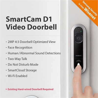Wisenet SmartCam D1 Doorbell