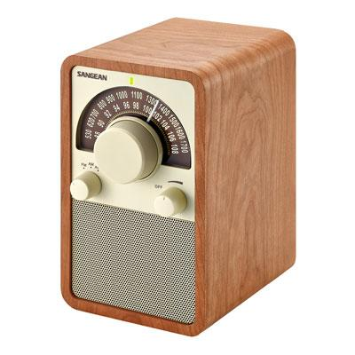 AM/FM Table Top Wooden Radio-Walnut