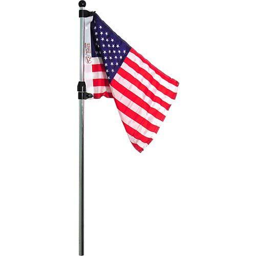 Seasense Flag Pole W/Us Flag Telescoping