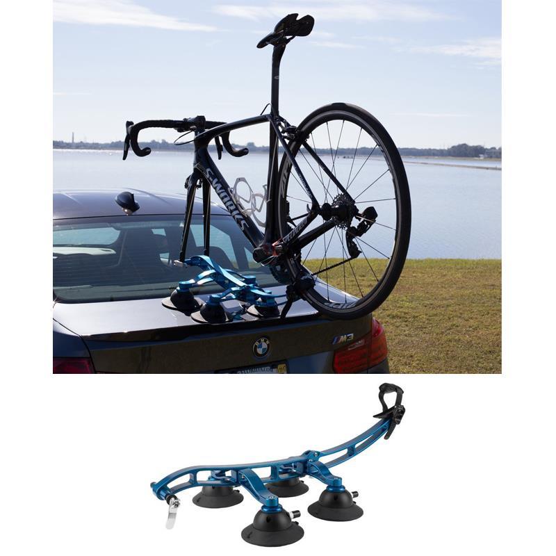 Komodo 1-bike fork-mount rack f/convertibles & sports cars w/front wheel mount
