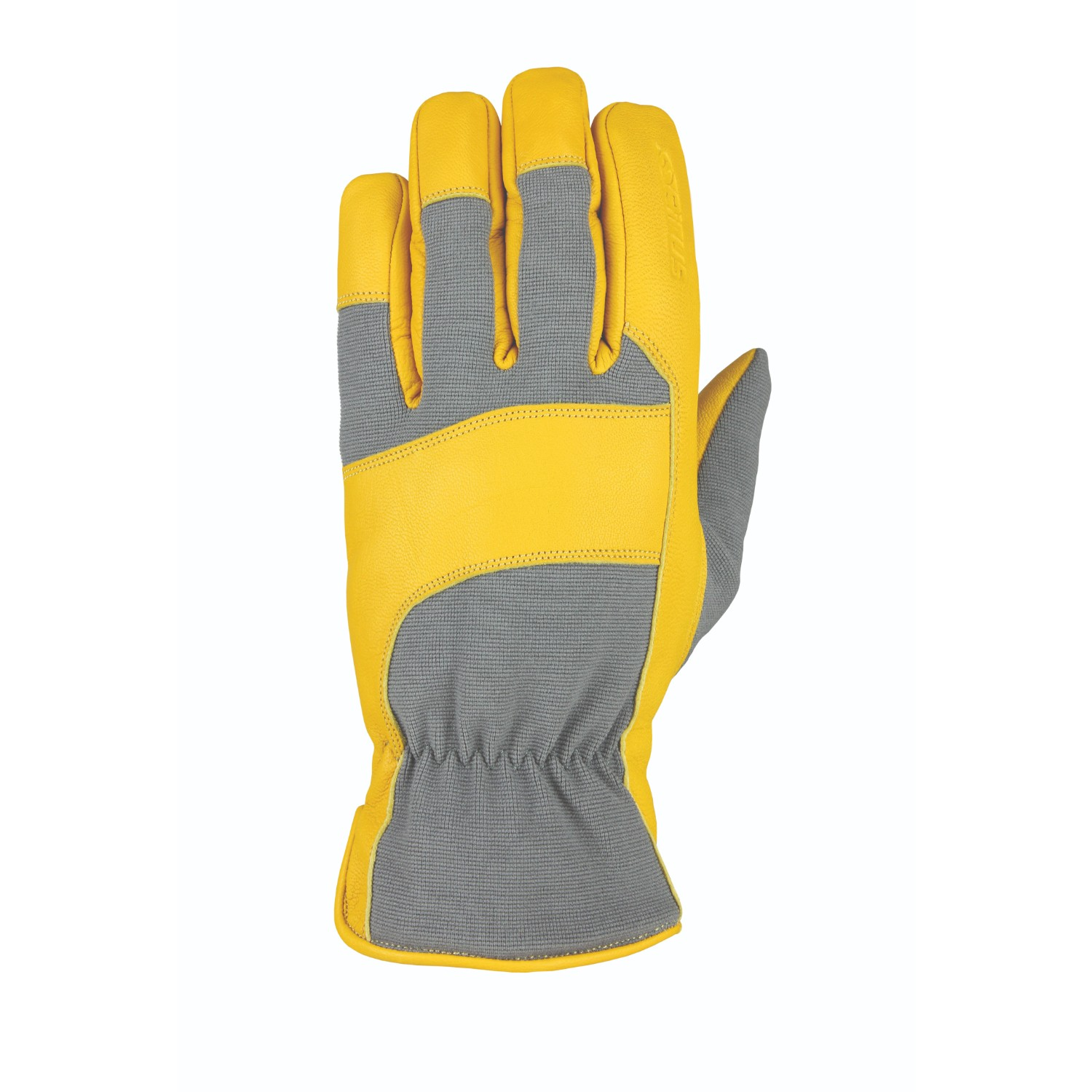 Heatwave Leather Glove Gray Tan Goatskin S