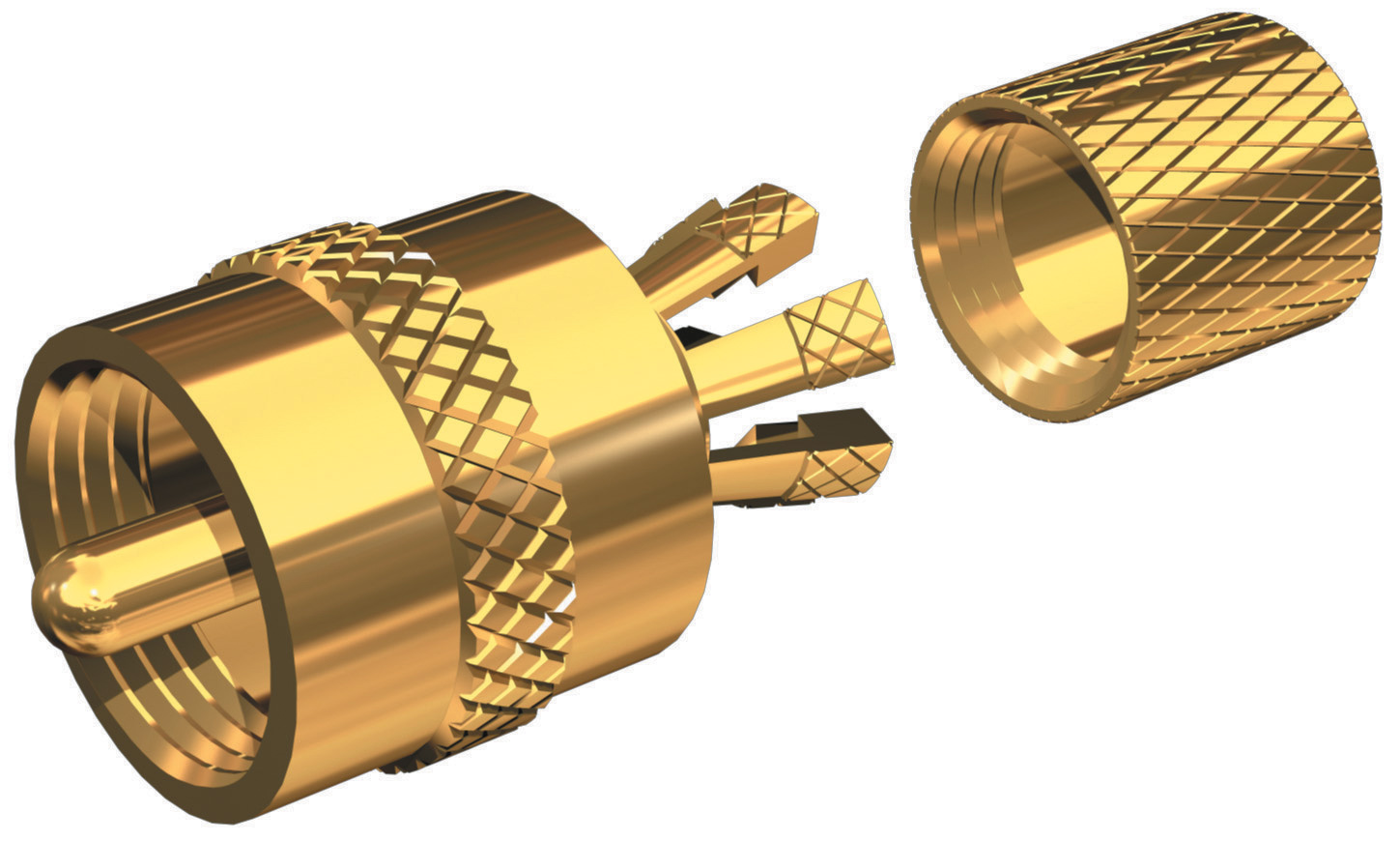 CENTERPIN PL259 CONNECTOR GOLD PLATED