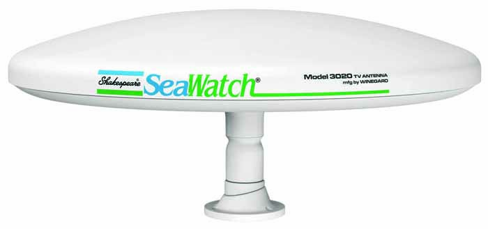 "14"" DIA. SEAWATCH MARINE TV ANTENNA W/SWIVEL MOUNT"