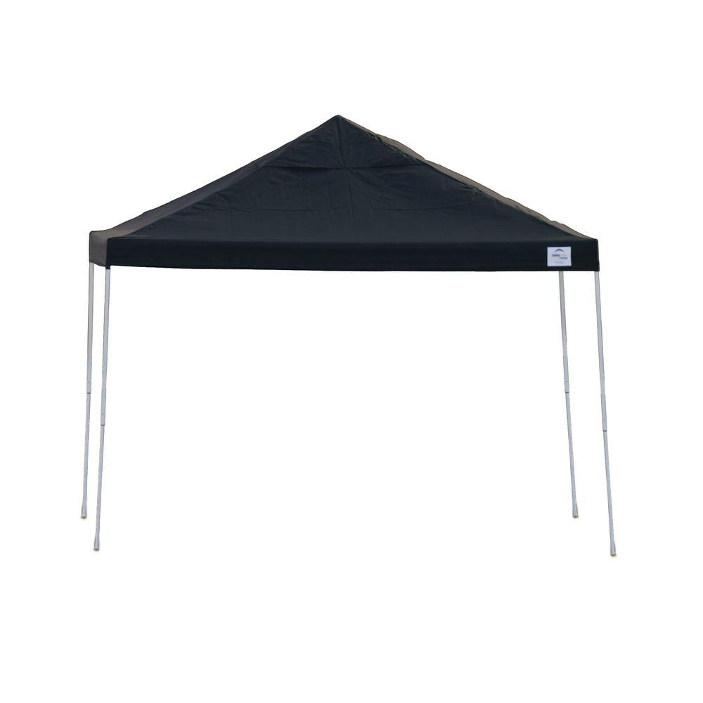 Straight Leg Popup Canopy, 12'x12', Black Cover, Black Roller Bag