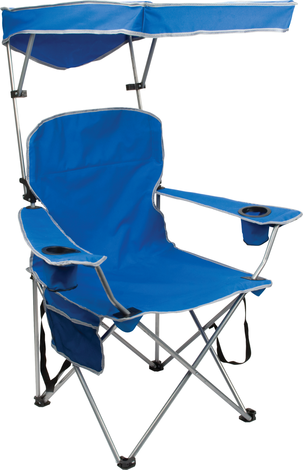 Full Size Shade Chair, Royal Blue Fabric, Silver frame