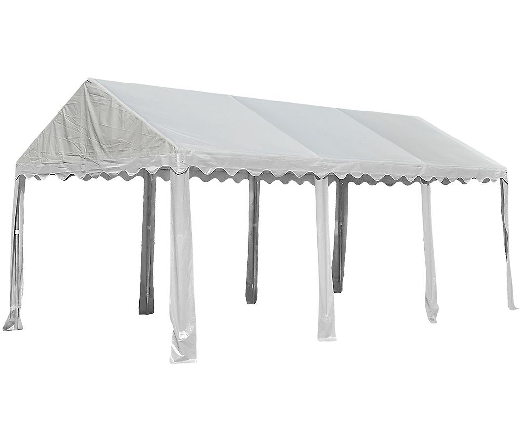 10'x20'/ 3x6m Party Tent, 8-Leg Galvanized Steel Frame, White