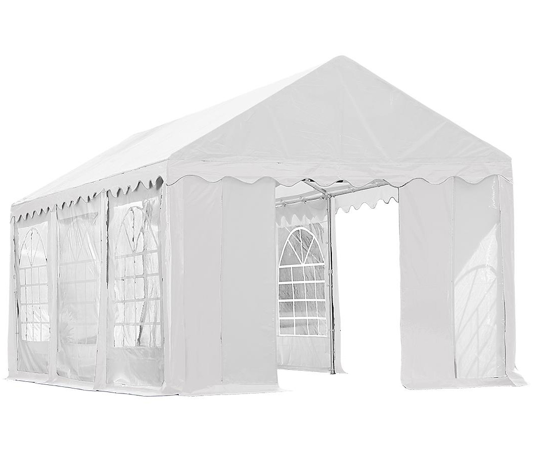 10'x20'/ 3x6m Party Tent, 8-Leg Galvanized Steel Frame, White with Enclosure Kit with Windows