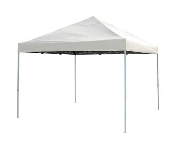 10x20 Straight Leg Pop-up Canopy, White Cover, Black Roller Bag