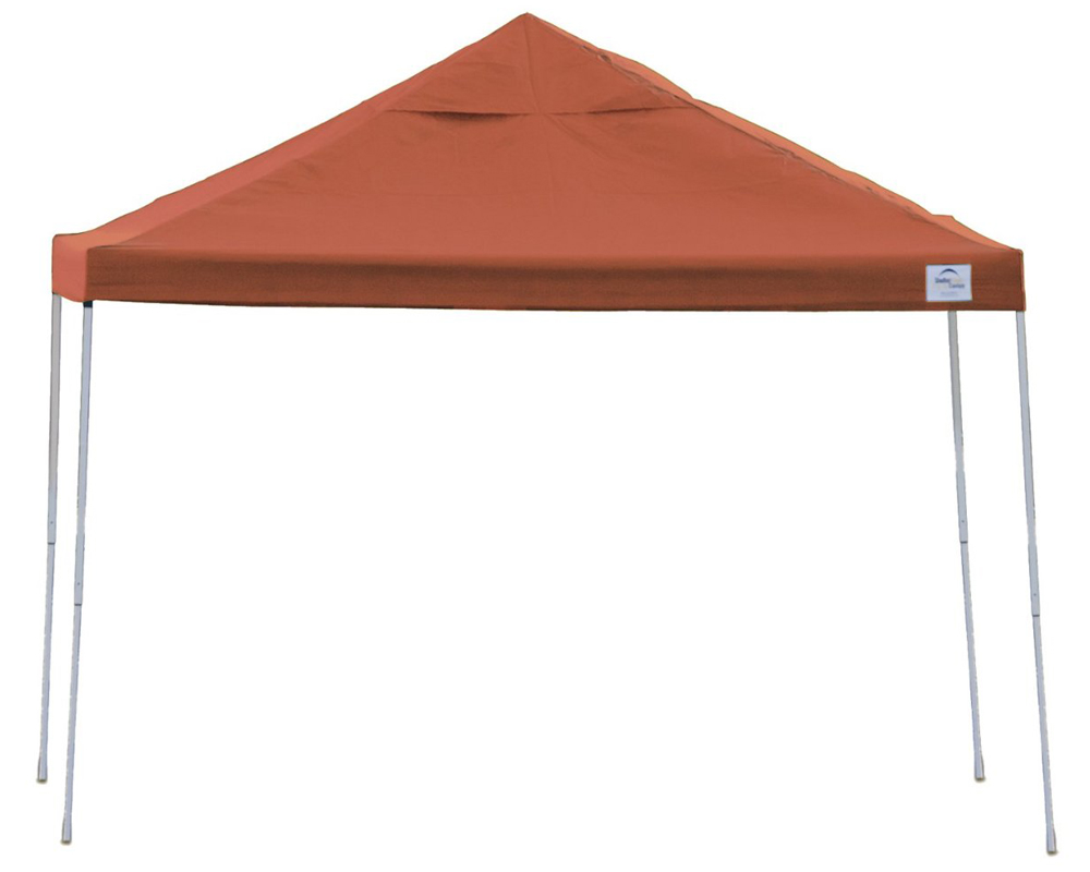 10x10 Straight Leg Pop-up Canopy, Terracotta Cover, Black Bag