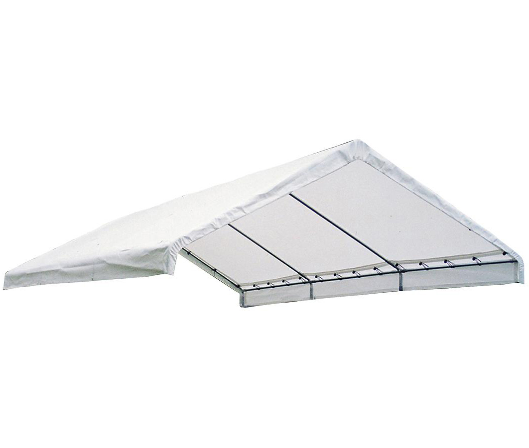 "18+30 Canopy White Replacement Cover for 2"" Frame; FR Rated"