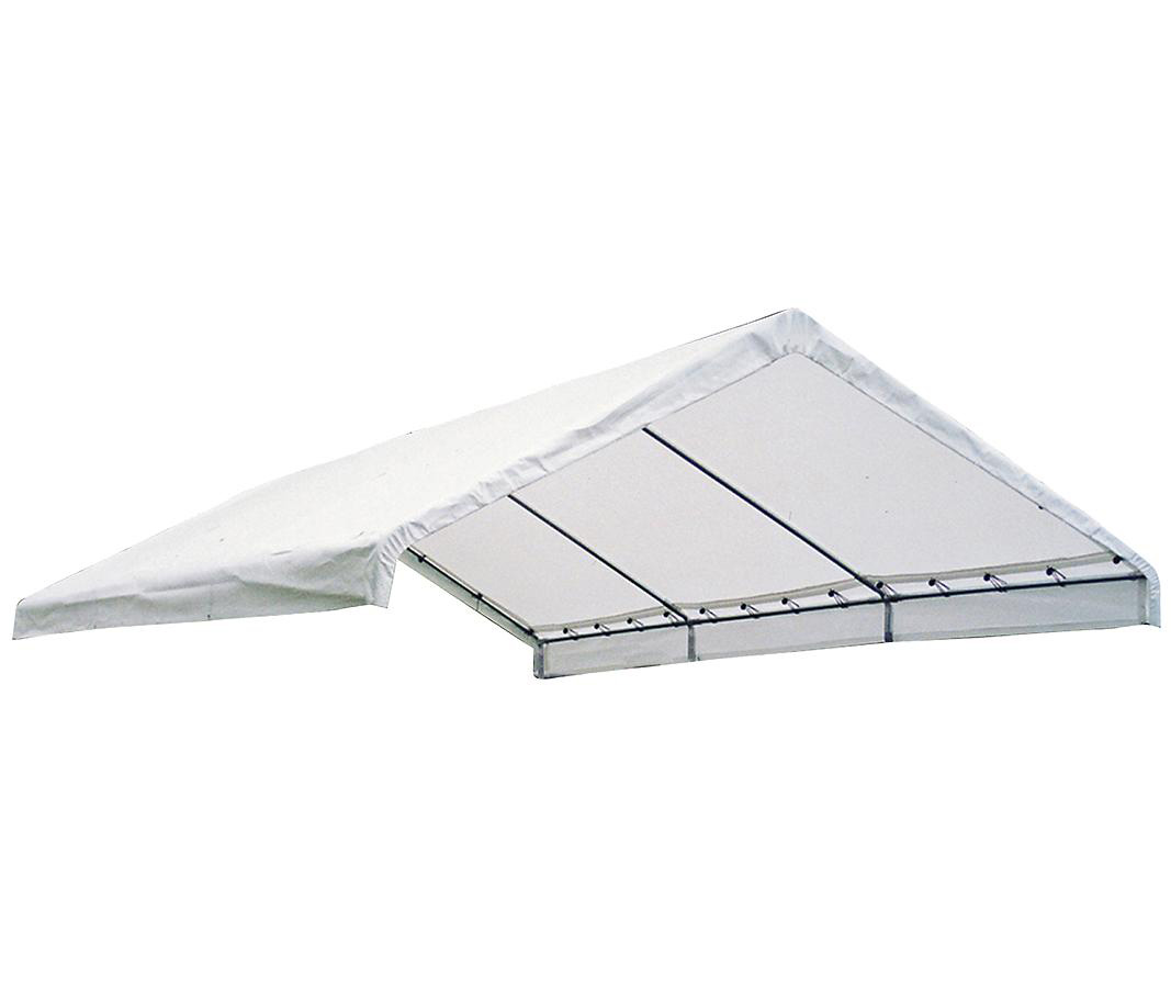 "18+40 Canopy White Replacement Cover for 2"" Frame; FR Rated"