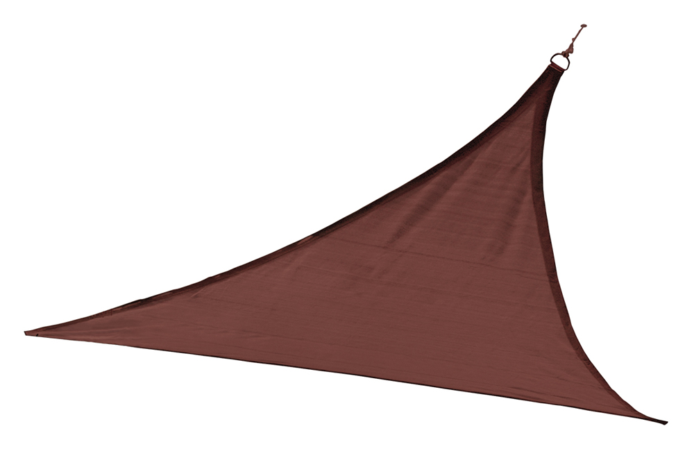12 ft. / 3,7 m Triangle Shade Sail - Terracotta 230 gsm