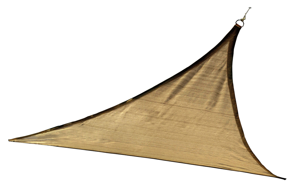 16 ft. / 4,9 m Triangle Shade Sail - Sand 160 gsm