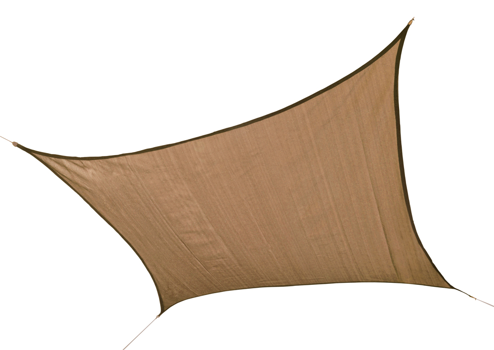 16 ft. / 4,9 m Square Shade Sail - Sand 160 gsm