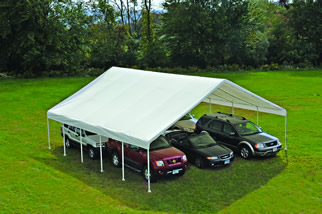 Ultra Max Canopy, 30'x30', 12-Leg, White Cover