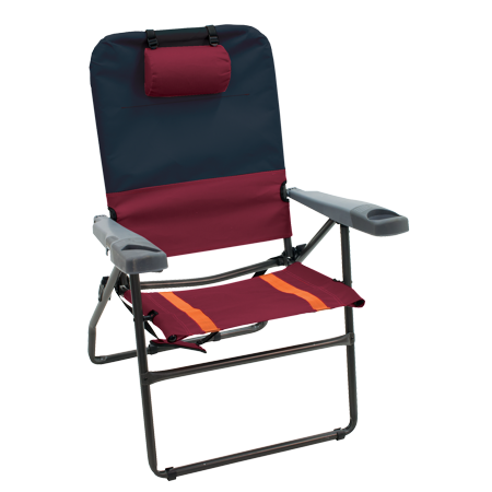 "4 POSITION 17"" SUSPENSION CHAIR  CHARCOAL/OXBLOOD"