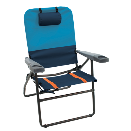 "4 POSITION 17"" SUSPENSION CHAIR  BLUESKY/NAVY"