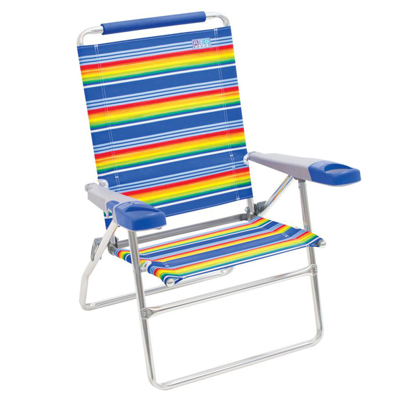 "15"" Beach Chair with new Molded arms  STRIPE"