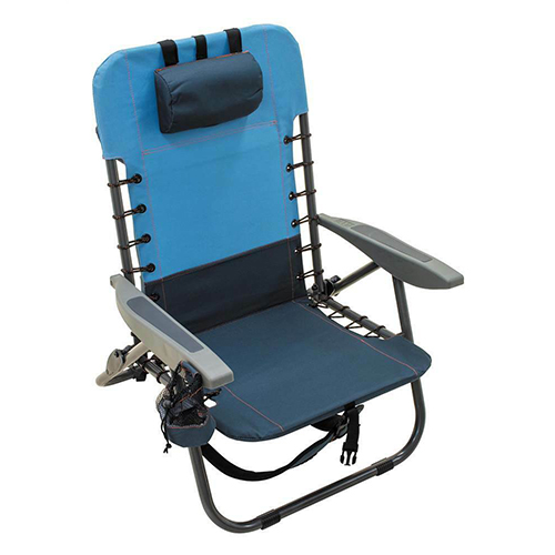 Rio NEW Lace-up Steel Gear Removable Backpack Chair - Blue Sky/Navy