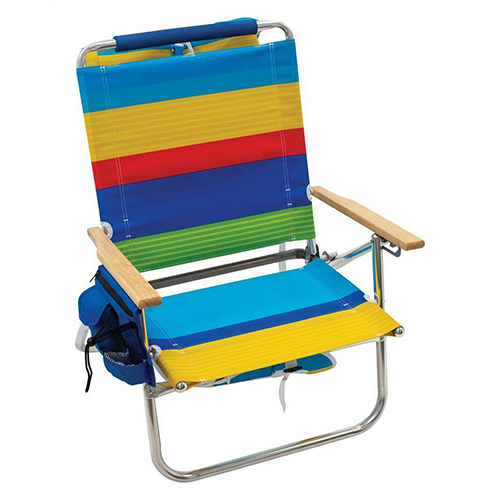 "Rio NEW 12"" Aluminum Removable Backpack Chair - Surf Power Stripe"