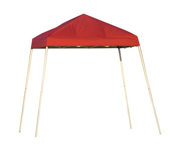 Slant Leg Popup Canopy, 8'x8', Red Cover, Carry Bag