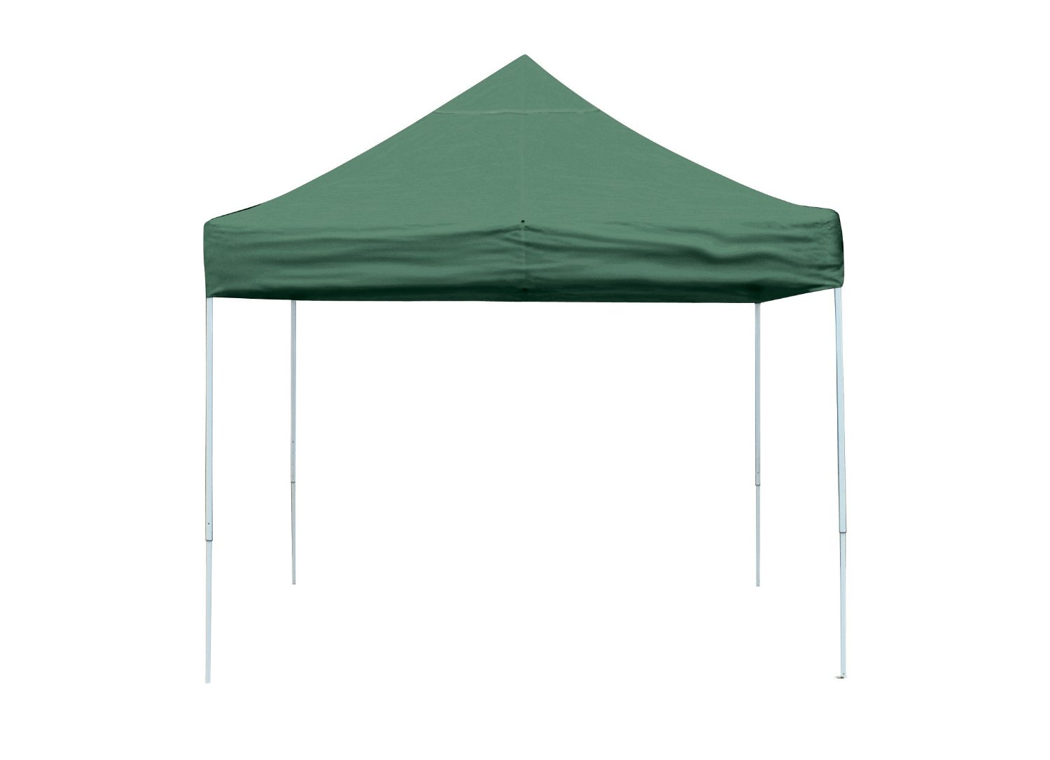 Straight Leg Popup Canopy, 12'x12', Green Cover, Black Roller Bag
