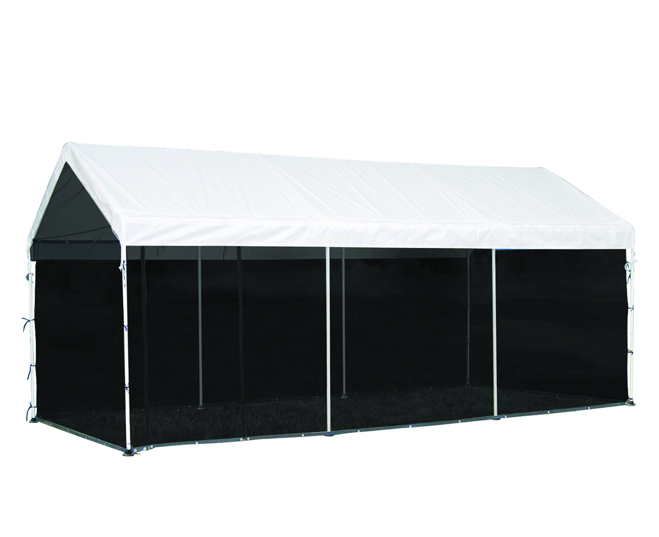 Max AP Canopy, 10'x20', 8-Leg, White Cover, Screen Kit