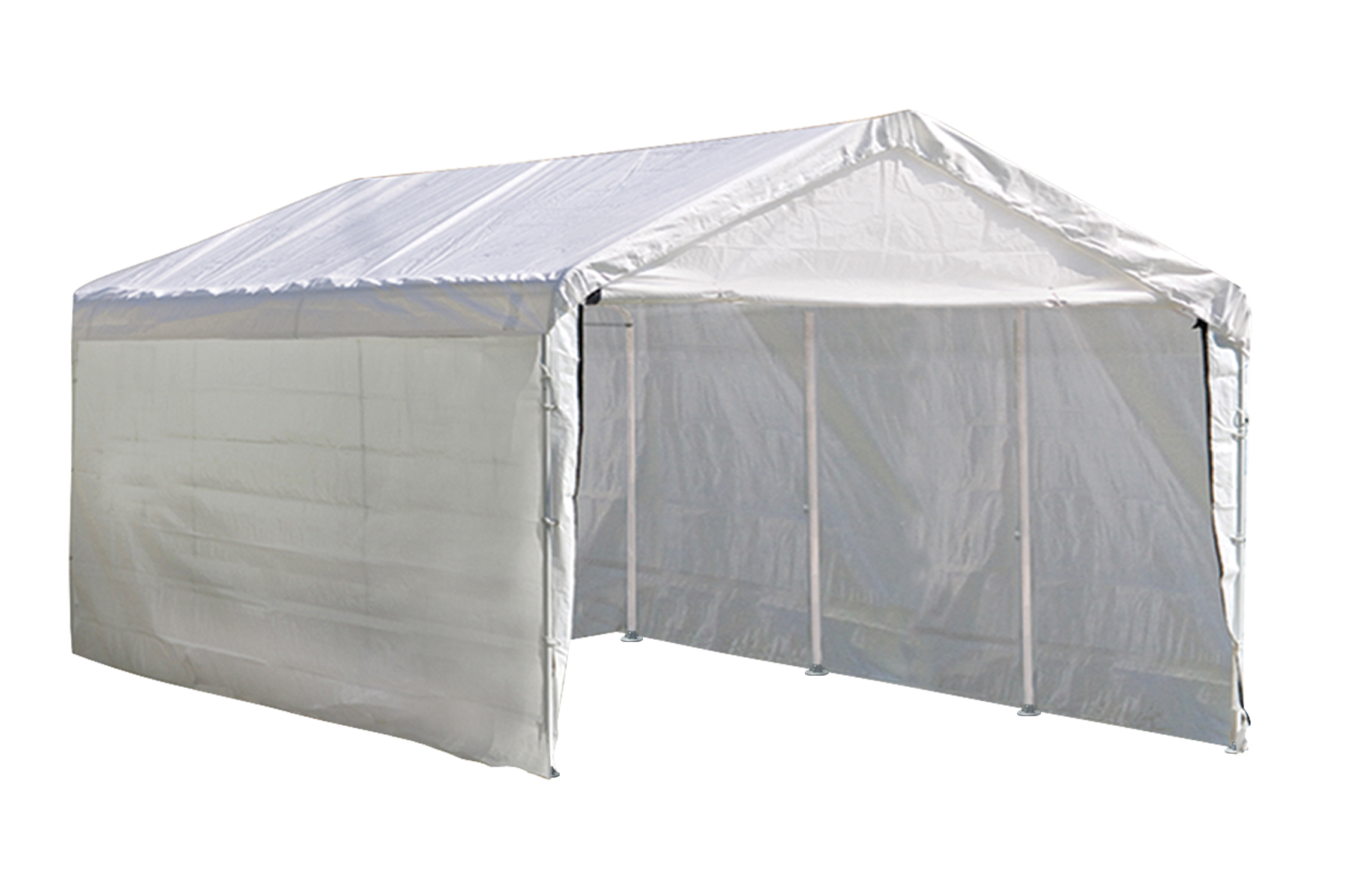 Max AP Canopy, 10'x20', 8-Leg, White Cover, Enclosure & Extension Kits