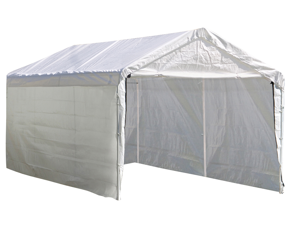 Super Max 12 ft. x 20 ft. White Canopy Enclosure Kit - Frame and Canopy Sold Separately