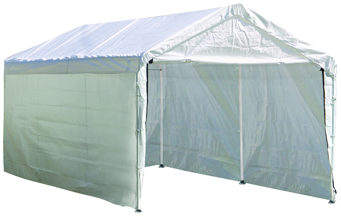 "Max AP 10 ft. x 20 ft. White Canopy Enclosure Kit Fits 1-3/8"" Frame - Frame and Canopy Sold Separately"
