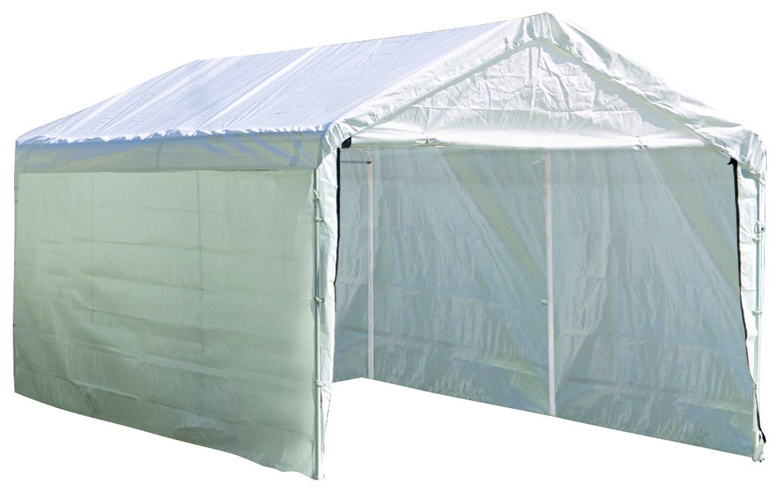 "Super Max 10 ft. x 20 ft. White Canopy Enclosure Kit Fits 2"" Frame - Frame and Canopy Sold Separately"