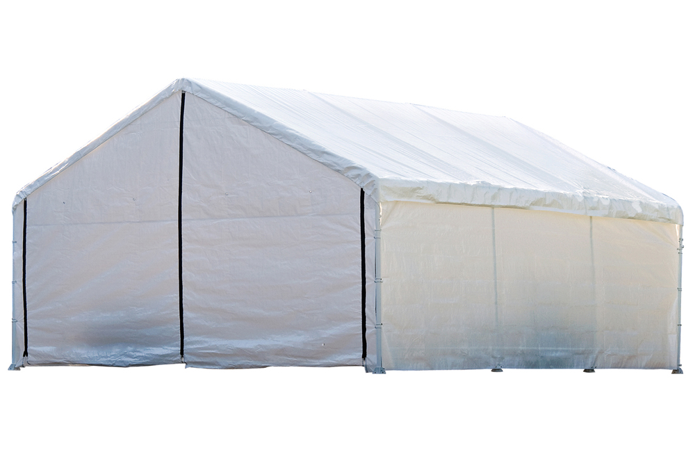 "Super Max 18 ft. x 20 ft. White Canopy Enclosure Kit Fits 2"" Frame - Frame and Canopy Sold Separately"
