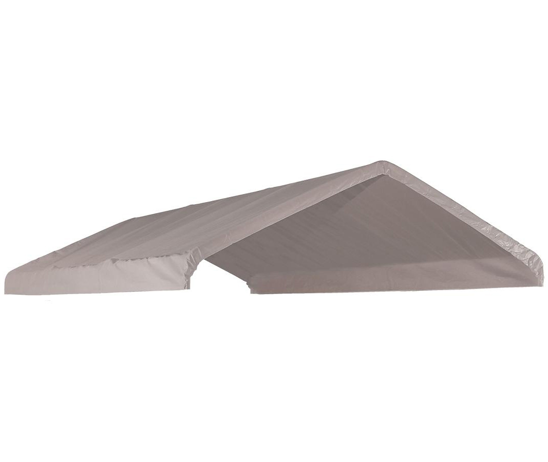 """Canopy Replacement Cover, 10'x20', White, Fits 2"""" Frame"""