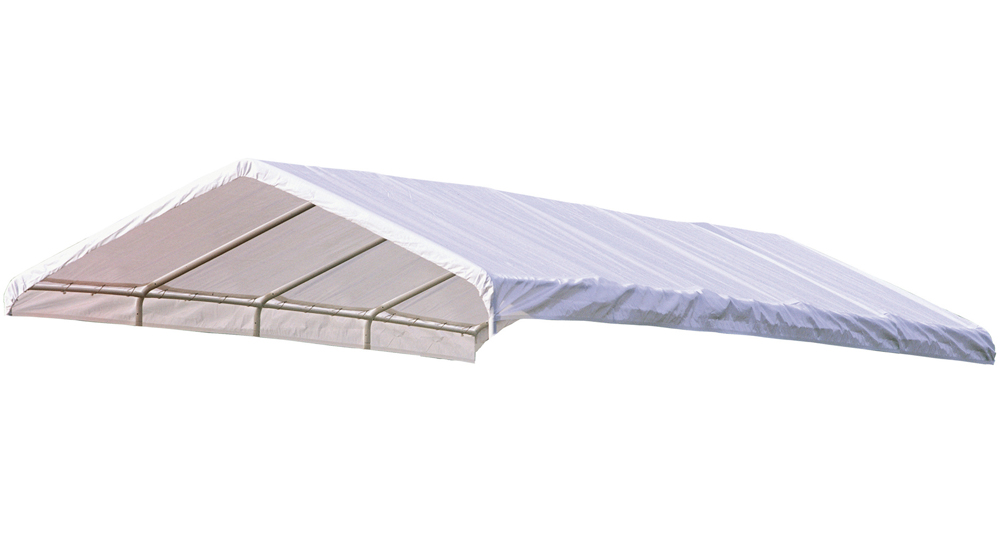 """Canopy Replacement Cover, 12'x30', White, Fits 2"""" Frame"""