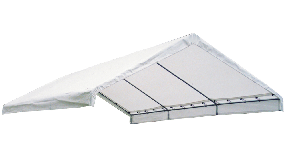 """Canopy Replacement Cover, 18'x20', White, Fits 2"""" Frame"""