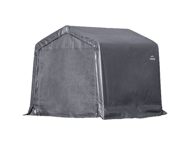 Peak Style Shed, 8'x8'x8', Grey Cover