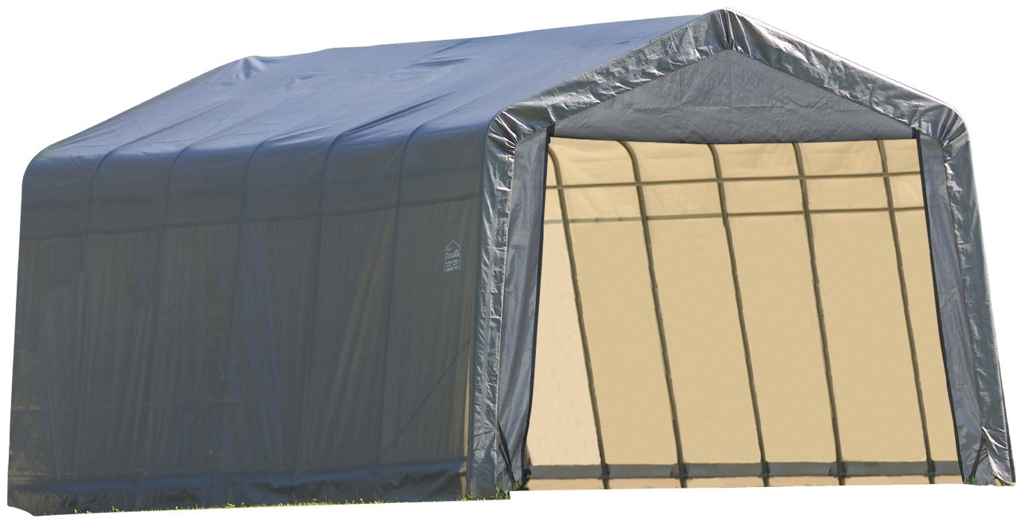 ShelterCoat™ 12 x 20 x 8 ft Peak Style Shelter, Gray