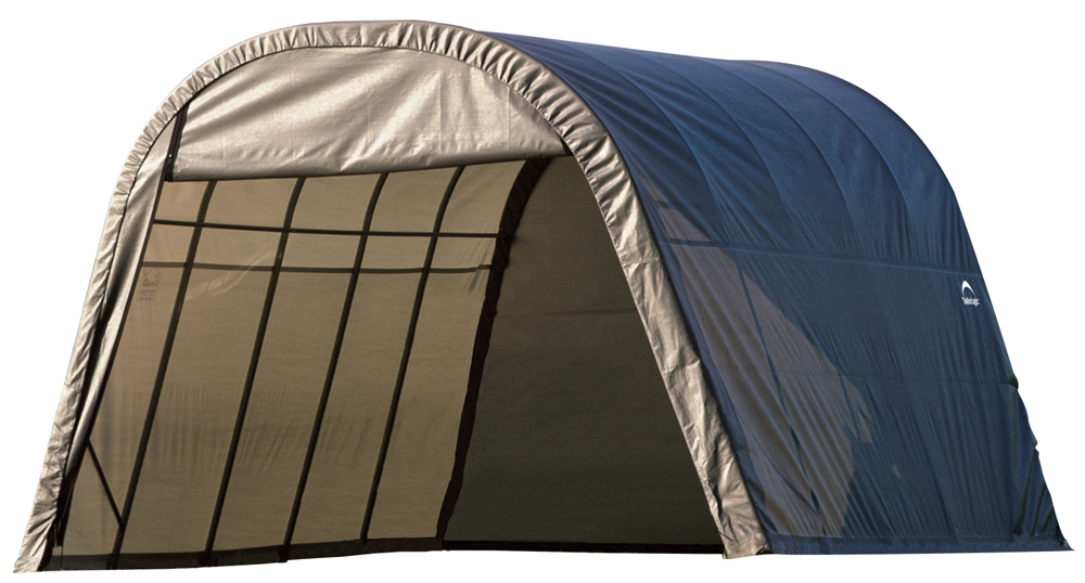 Round Style Shelter, 13'x20'x10', Grey Cover