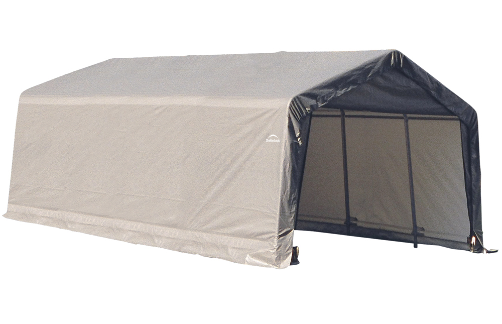 Peak Style Shelter, 13'x20'x10', Grey Cover