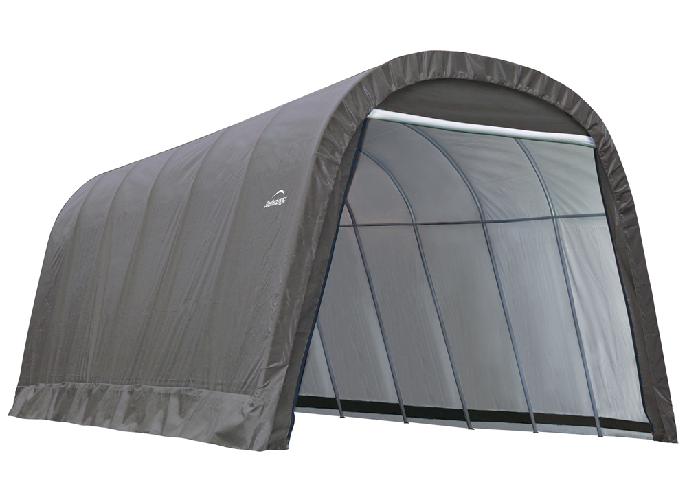 Round Style Shelter, 13'x24'x10', Grey Cover