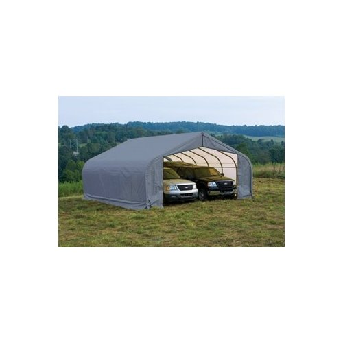 Peak Style Shelter, 22'x24'x13', Grey Cover