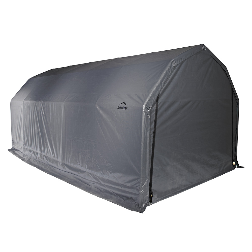 Barn Shelter, 12'x20'x9', Grey Cover