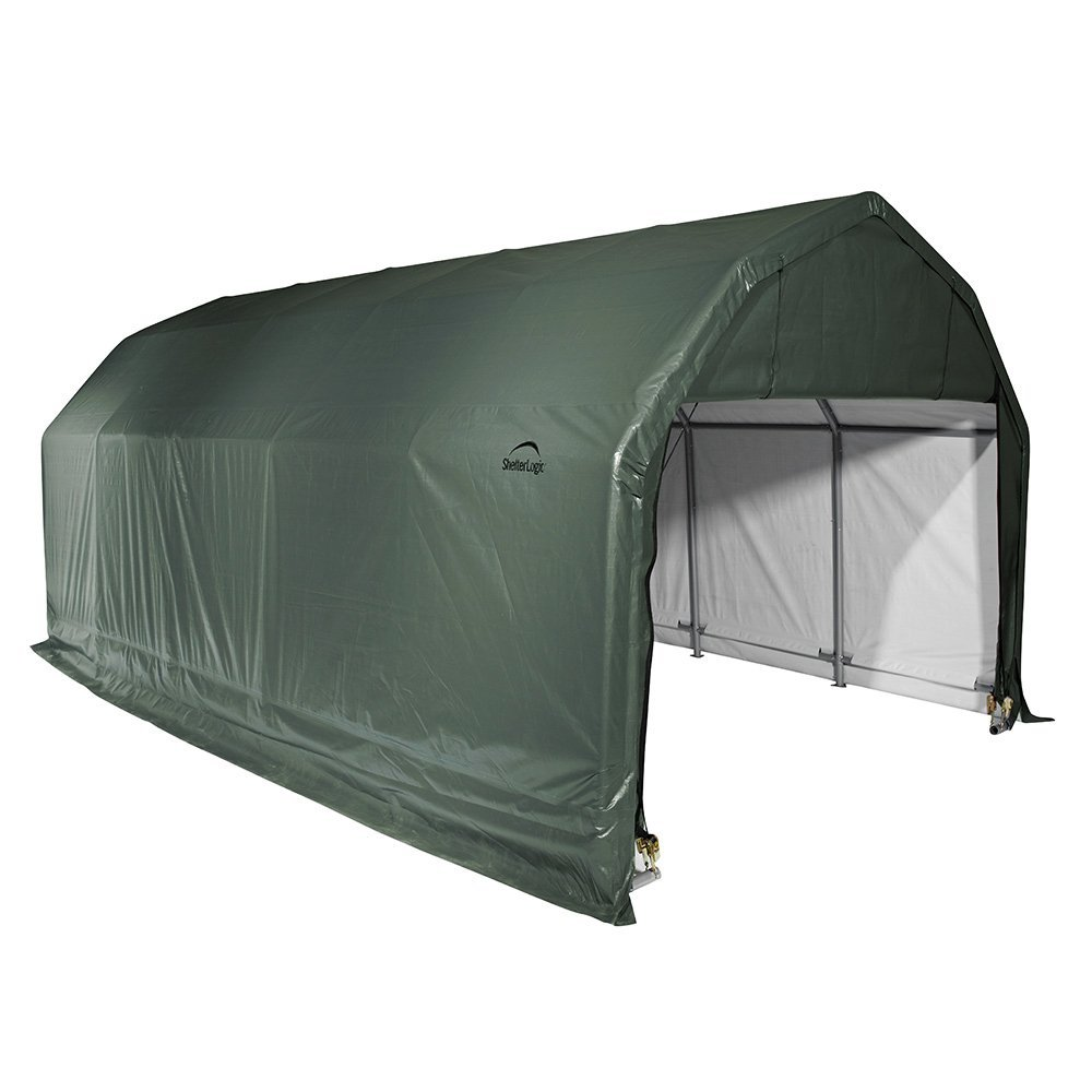 Barn Shelter, 12'x20'x9', Green Cover