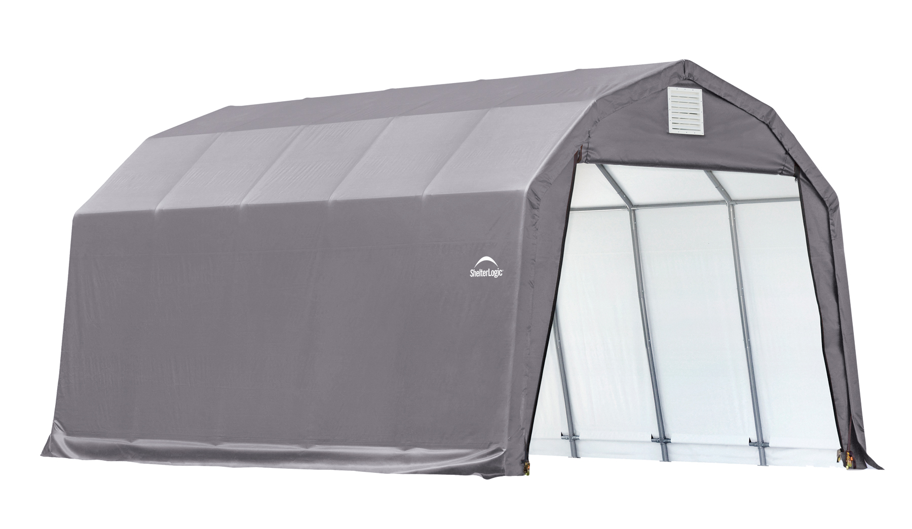 Barn Shelter, 12'x20'x11', Grey Cover