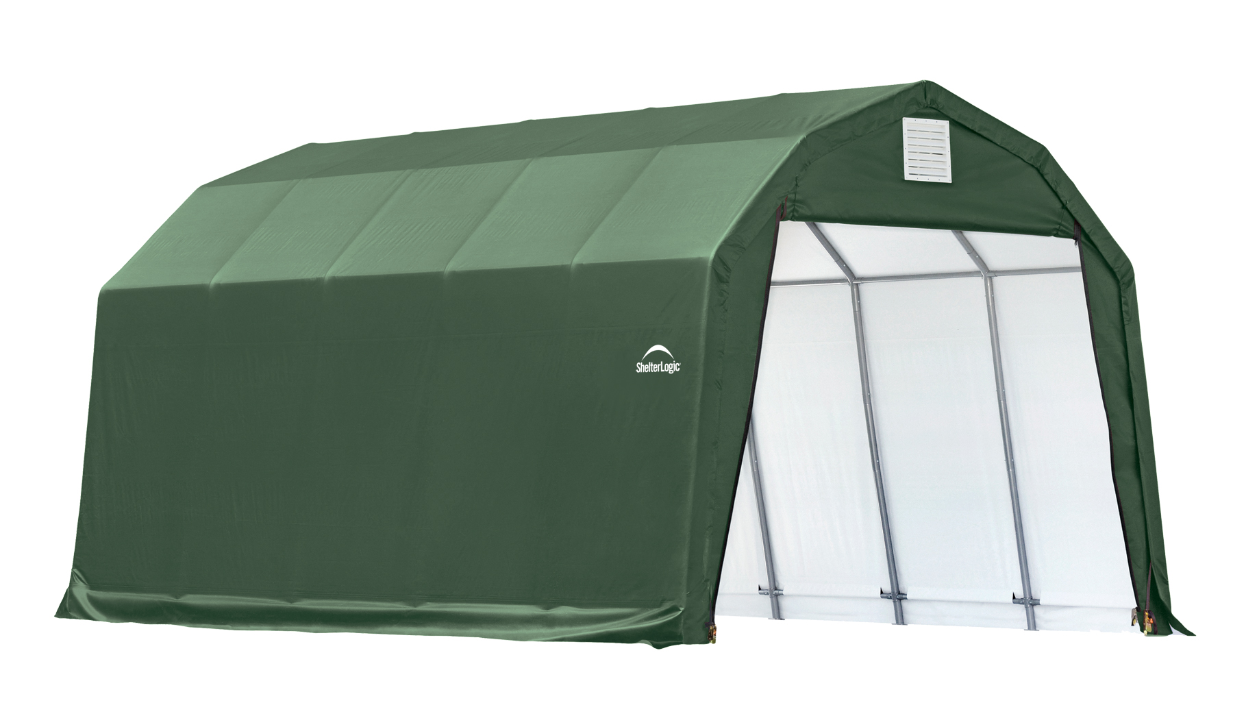 Barn Shelter, 12'x20'x11', Green Cover