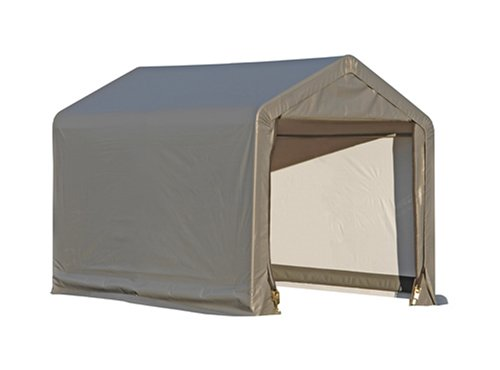 Peak Style Storage Shed, 6'x6'x6', Grey Cover