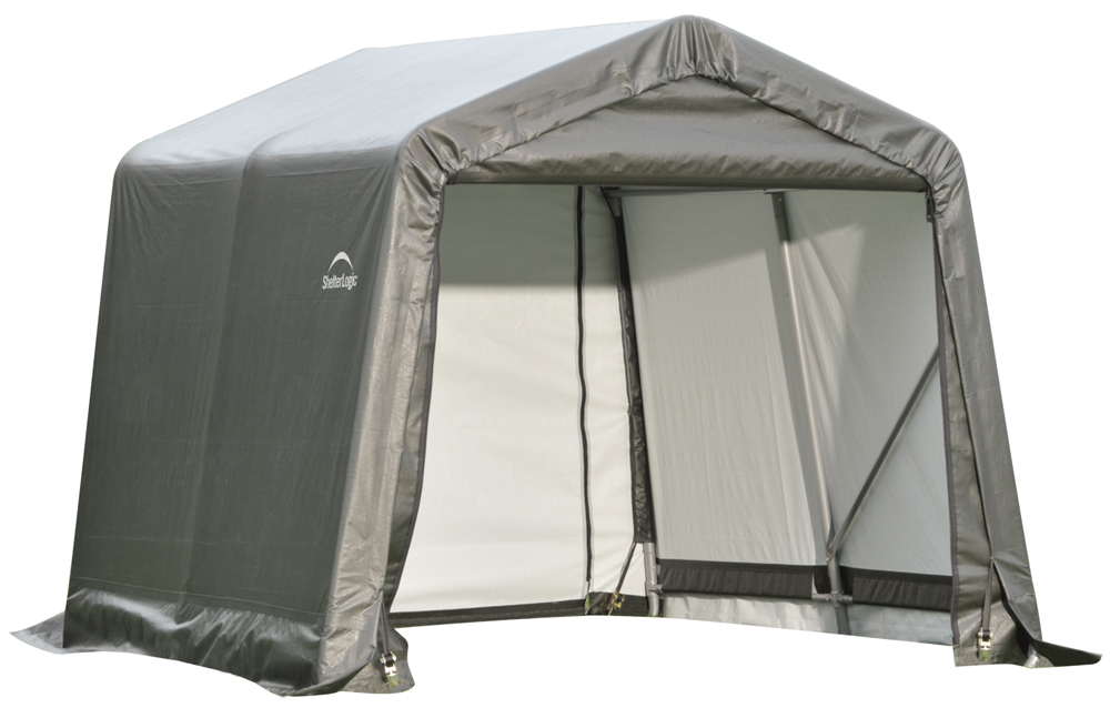 Peak Style Shelter, 8'x16'x8', Grey Cover